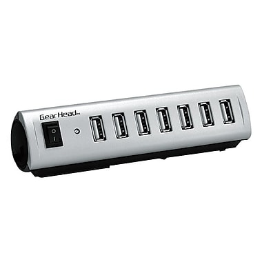 Gear Head™ UH7500ESP Energy Saving USB 2.0 Hub With AC Adapter, 7-Ports