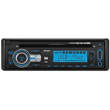 Dual® XDMA6370 In-Dash Single Din AM/FM Receiver With Detachable Faceplate