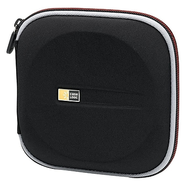 Case Logic® Molded EVA Foam 24 CD Wallet, Black/Red, Each