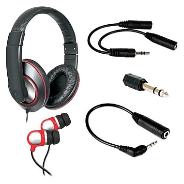 DreamGEAR® DGHP-4003 5-in-1 Ultimate Audio Kit For Portable Devices
