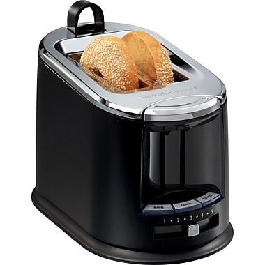 Hamilton Beach® SmartToast® Extra-Wide Slot 2 Slice Toaster, Black/Silver