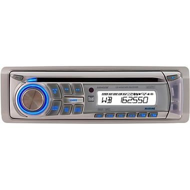Dual® Marine AM400W Single-Din Weather Band AM/FM CD Receiver With Direct USB Control