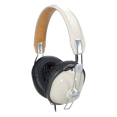 Panasonic® RP-HTX7 Retro-Style Monitor Headphones, Black/Cream