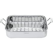 "Cuisinart® Chef's Classic™ 16"" Stainless Steel Roasting Pan With Rack, Stainless"