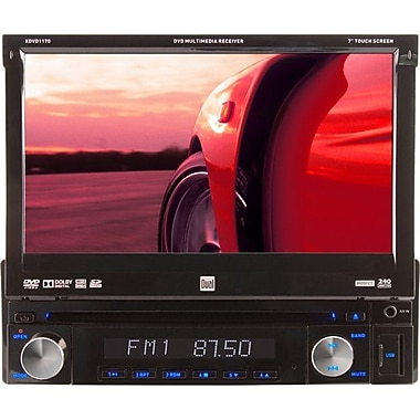 Dual® XDVD1170 Single-Din CD/DVD Receiver With 7in. Touchscreen LED Monitor