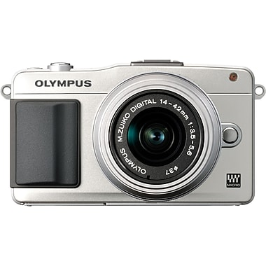 Olympus® PEN E-PM2 16.1 MP Mirrorless Camera, Silver