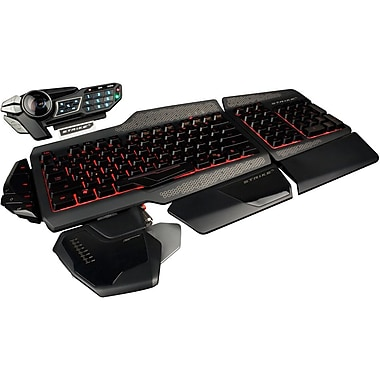 Mad Catz® Saitek MCB43108N002/02/1 S.T.R.I.K.E. 5 Gaming Keyboard For PC, Black