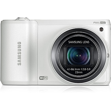 Samsung WB800F 16.3 MP SMART Camera With 21x Zoom, White