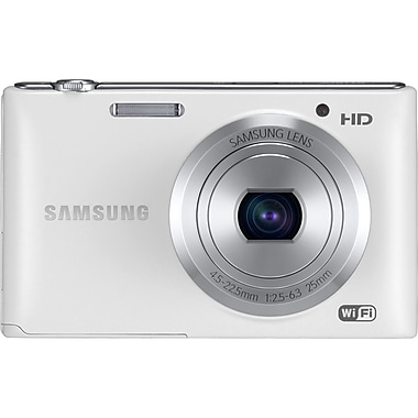 Samsung ST150F 16.2 MP Compact Camera With 5x Zoom, White