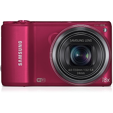 Samsung WB250 14.2 MP SMART Camera With 18x Zoom, Red