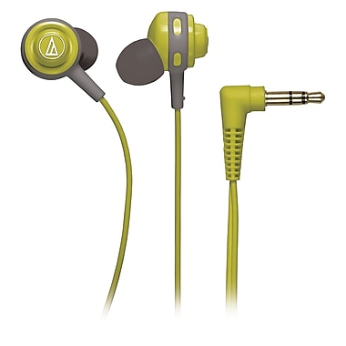 Audio-Technica® Core Bass ATH-COR150 In-Ear Headphones, Lime Green
