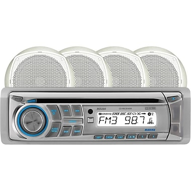 Dual® Marine MCP204 In-Dash Single-Din AM/FM CD Player