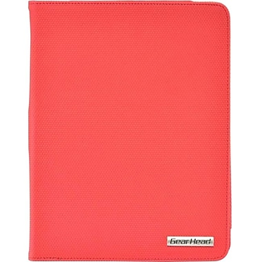 Gear Head™ Slim Portfolio Stand For iPad 2/3/4, Red