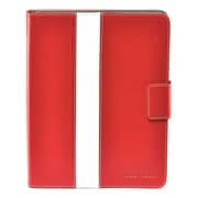 Gear Head™ Leather Style Executive Portfolio For iPad 2/3/4, Red