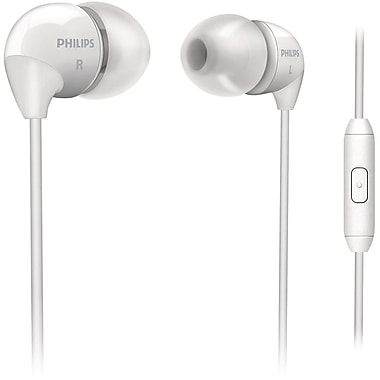 Philips SHE3595/28 In Ear Headphones With Dynamic Bass and Integrated Mic, White