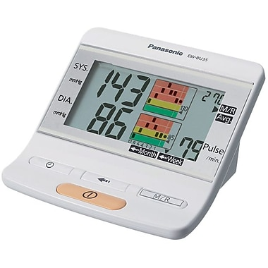 Panasonic® Portable Upper Arm Blood Pressure Monitor, 270 Memories