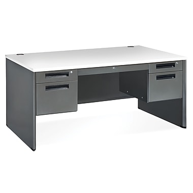OFM Executive Series 77360 Executive Panel End Desk, Gray Nebula