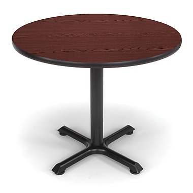 OFM X-Series 36in. Round Multi-Purpose Table, Mahogany