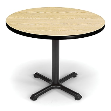 OFM X-Series 36in. Round Multi-Purpose Table, Oak