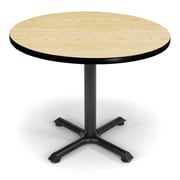 OFM X-Series 36 Round Multi-Purpose Table, Oak