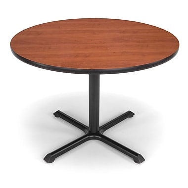 OFM X-Series 42in. Round Multi-Purpose Table, Cherry