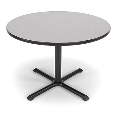 OFM X-Series 42in. Round Multi-Purpose Table, Gray Nebula
