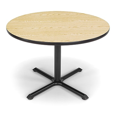 OFM X-Series 42in. Round Multi-Purpose Table, Oak