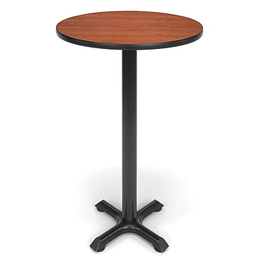 OFM X-Series 24in. Round Cafe Height Table, Cherry