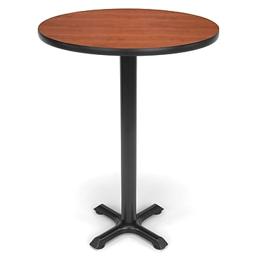 OFM X-Series 30in. Round Cafe Height Table, Cherry