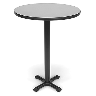 OFM X-Series 30in. Round Cafe Height Table, Gray Nebula