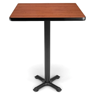 OFM X-Series 30in. Cafe Height Table, Cherry