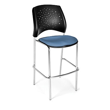 OFM Star Series Fabric Cafe Height Chair, Cornflower Blue