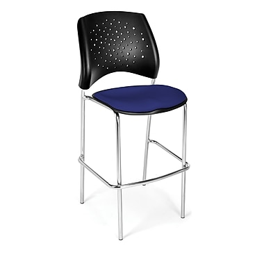 OFM Star Series Fabric Cafe Height Chair, Royal Blue
