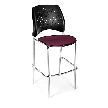 OFM Star Series Fabric Cafe Height Chair, Burgundy