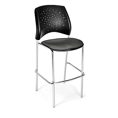 OFM Star Series Fabric Cafe Height Chair, Slate Gray