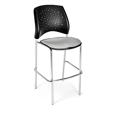 OFM Star Series Fabric Cafe Height Chair, Putty