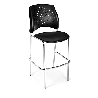 OFM Star Series Fabric Cafe Height Chair, Black