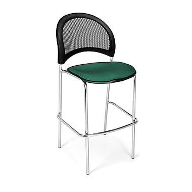 OFM Moon Series Fabric Cafe Height Chair, Shamrock Green