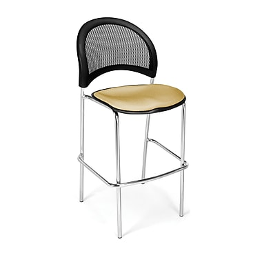 OFM Moon Series Fabric Cafe Height Chair, Golden Flax