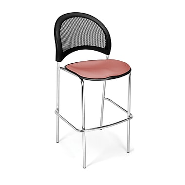 OFM Moon Series Fabric Cafe Height Chair, Coral Pink