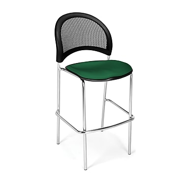 OFM Moon Series Fabric Cafe Height Chair, Forest Green