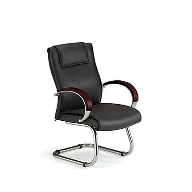 OFM Apex Series Wood Executive Guest Chair, Mahogany