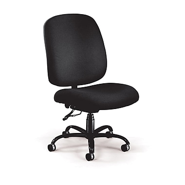 OFM Fabric Armless Big And Tall Task Chair, Black