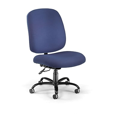 OFM Fabric Armless Big And Tall Task Chair, Navy
