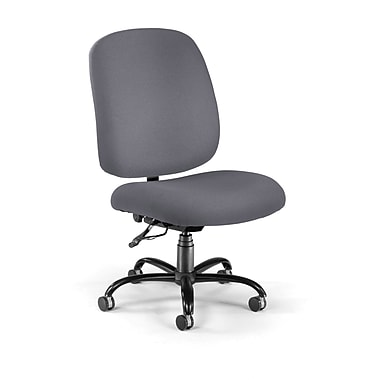 OFM Fabric Armless Big And Tall Task Chair, Gray