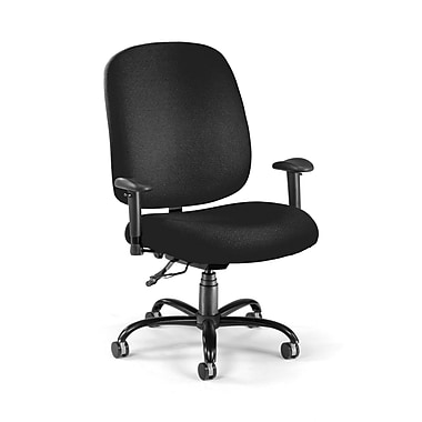 OFM Fabric Big And Tall Task Chair, Black
