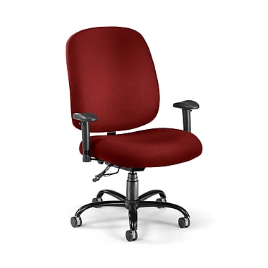 OFM Fabric Big And Tall Task Chair, Wine