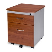 OFM 24 Melamine Mobile File Pedestal, 2-Drawer, Cherry