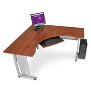 OFM 55196 Melamine L-shaped Workstation, Cherry