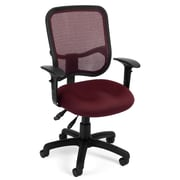 OFM Mesh Comfort Series Fabric Ergonomic Task Chair, Wine